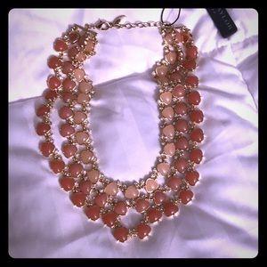 NWT Ann Taylor Peach layered necklace